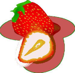 red, food, fruit, cartoon, strawberry, plant, berry