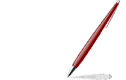 red, icon, paper, pen, pencil, glossy, feather, cartoon