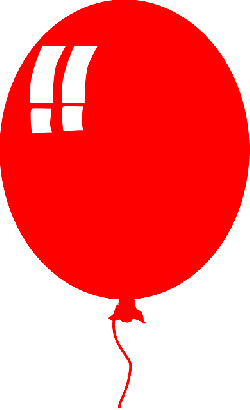 red, kids, recreation, cartoon, party, balloon, helium
