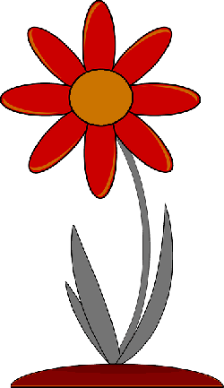 red, outline, drawing, plants, flower, flowers, cartoon
