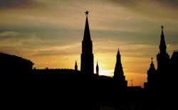 red square, historic buildings, skyline, silhouette