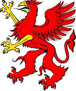 red, symbol, bird, art, griffin, animal