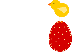 red, top, bird, egg, holiday, easter, chick, animal