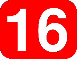 red, white, font, number, rounded, rectangle, numbers
