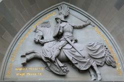 reiter, horse, relief, eagle gate, hohenzollern castle