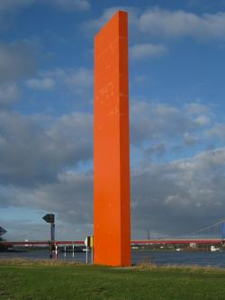 rhine orange, rhine, ruhr, monument, pillar, large