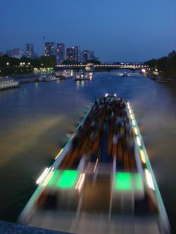 river, city, night, blur, blurred, movement, motion