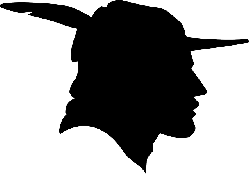 robin hood, man, hat, cap, black, profile, face