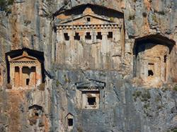 rock tombs, caves buildings, rock, historically
