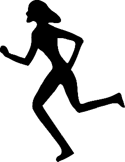 running, jogging, jogger, female, silhouette, sports