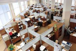 russia, office, men, women, working, workers, complex