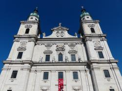 salzburg cathedral, facade, cathedral square