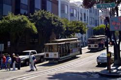 san francisco, cable car, california, usa, city