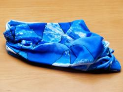 scarf, blue, colorful, multi function cloth, cloth