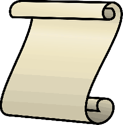 scroll, icon, note, paper, open, cartoon, free, letter
