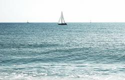 sea, ocean, sailboat, nature, sailing, boat, summer