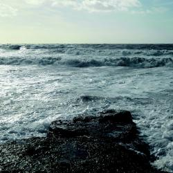 sea, wave, water, horizon, flood, côte d'opale, coast