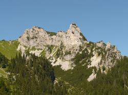 sebenspitze, mountain, alpine, tannheim, hike, rock