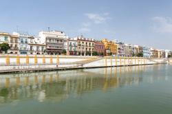 seville, spain, harbor, bay, waterway, buildings
