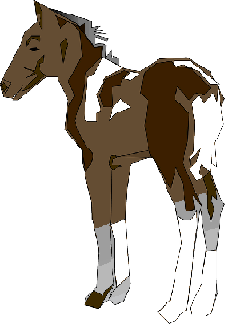 shading, horse, detailed, art, standing, animal, with