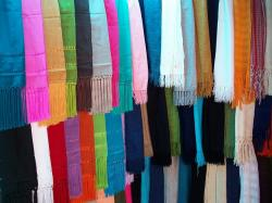 shawls, crafts, colors, clothing