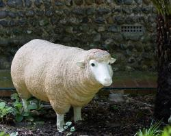 sheep, ornament, large, garden, animal, imitation