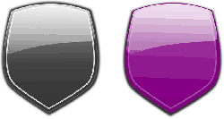 shields, protection, armor, badge, glossy, lilac