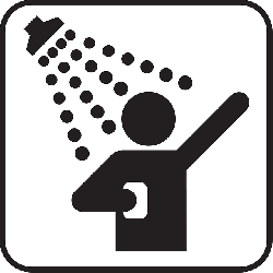 shower, douche, spray, cleaning, washing, water, symbol