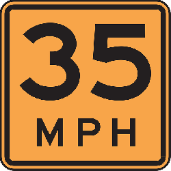 sign, car, road, per, hour, driving, speed, mph, 35