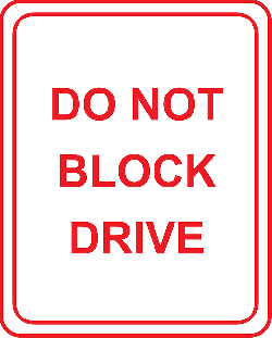 sign, drive, traffic, road, parking, block, instruction