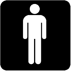 sign, icon, stick, outline, map, symbol, boy, man, guy