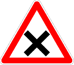 sign, road sign, traffic sign, crossroads, right-of-way