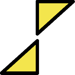 sign, simple, yellow, triangle, buoy, cardinal