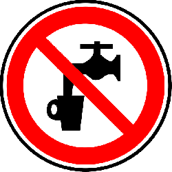 sign, water, symbol, signs, symbols, non, potable, gui