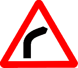 signs, ahead, transportation, road, curve, vehicles