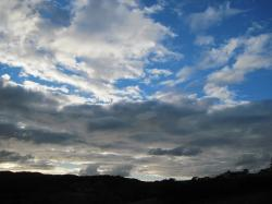 silhouette, back light, clouds, sky, cloud formation
