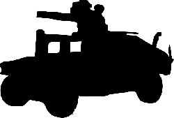 silhouette, cartoon, hummer, toy, military, army
