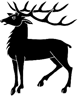 silhouette, deer, horns, animal, mammal, antlers