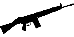 silhouette, fire, target, gun, arms, automatic, machine