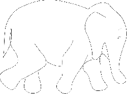 simple, africa, outline, elephant, book, asia, art