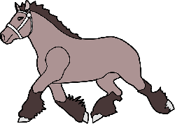 simple, cartoon, horse, animal, trot, mane, trotting