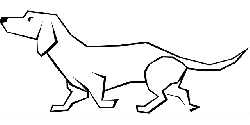 simple, drawn, drawing, dog, straight, lines, animal