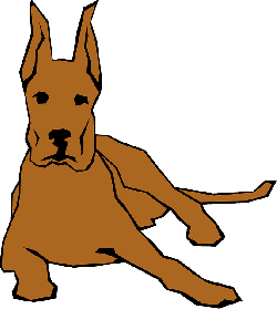 simple, drawn, drawing, down, dog, color, straight