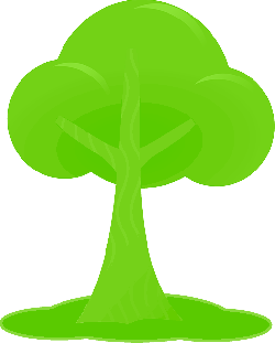 simple, outline, drawing, tree, cartoon, free, peach