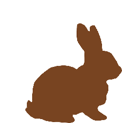 simple, spring, bunny, chocolate, holiday, easter