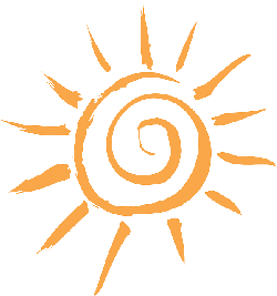 simple, sun, cartoon, orange, free, sunshine, sol