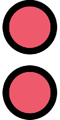 simple, symbol, danger, circles, beacon, isolated