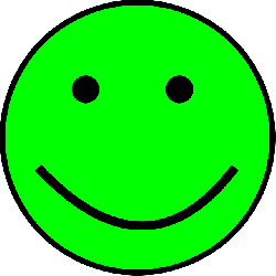 smiley, green, simple, happy