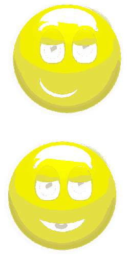 smiley, smirk, relieved, happy, yellow, glossy, round