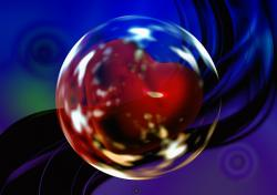soap bubble, ball, heart, love, luck, abstract